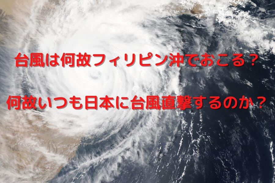 台風は何故フィリピン沖でおこる? 何故いつも日本に台風直撃するのか?