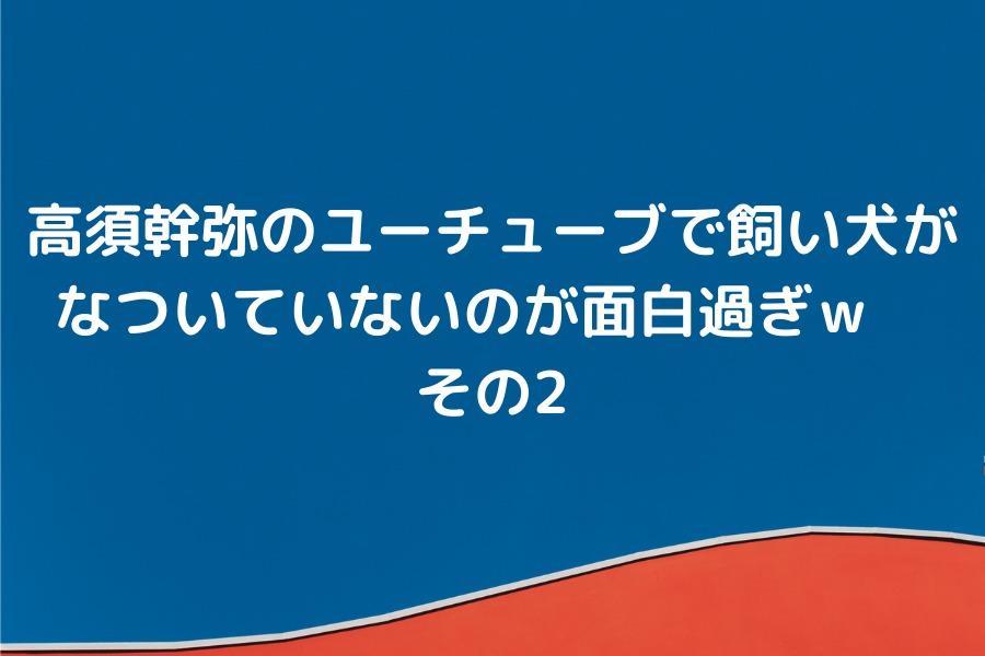 高須幹弥のユーチューブで飼い犬がなついていないのが面白過ぎ その2w