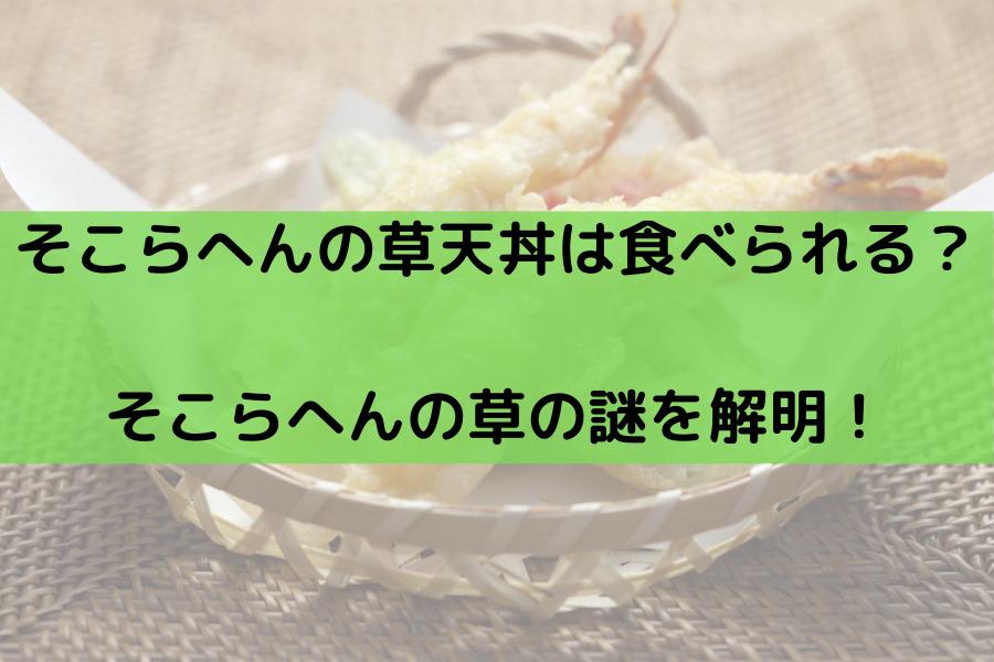 そこらへんの草天丼は食べられる? そこらへんの草の謎を解明! (1)